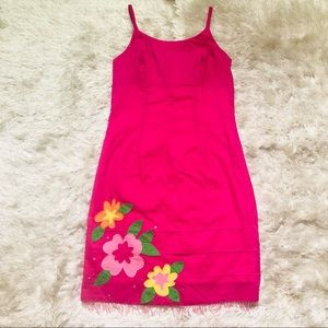 VTG Lilly Pulitzer Embroidered Floral Dress